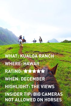 Adventures For Two: Review of Kualoa Ranch horseback riding in Oahu, Hawaii. www.adventuresfortwo.com