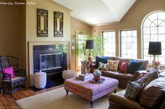 DM Project: Family Room Before and After | Design Manifest