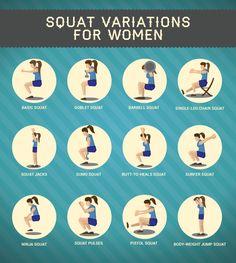 15 Squat Variations for Women