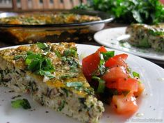 Baked Vegetarian Asian Omelette. This is TO DIE FOR! A fantastic healthy vegetarian breakfast recipe. It also makes a wonderful lunch or dinner idea too!
