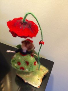 Needle felted Fairy Waldorf inspired Wool Fairy in di DreamsLab3