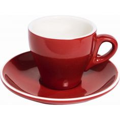 Fortis Prima Espresso Saucer (Only) Red 11.9cm