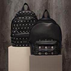 Elegance and rock audacity - studded #VersusVersace backpacks add edge. Shop Versus backpacks on versusversace.com