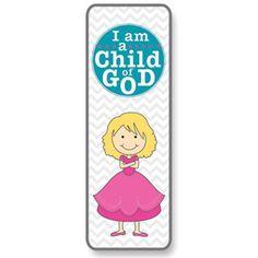 Child of God Bookmark (Girl) | Primary on LDSBookstore.com (#RM-WBL006)