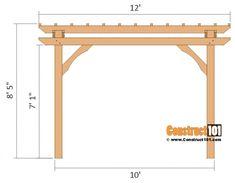 DIY Pergola Plans 10x12 | Side View