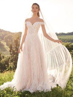 Lillian West Unique Wedding Gowns, Wedding Dresses, Bridal Gowns, Vow Renewal Dress, Justin Alexander Bridal, Sincerity Bridal, Lillian West, Romantic Lace, A Line Gown