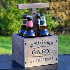 Personalised Engraved Beer Crate
