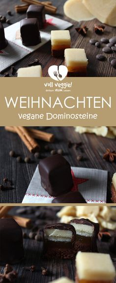 Feine Dominosteine Who bought loves, he will love these homemade vegan dominoes! Made of fluffy with delicate apricot Vegan Appetizers, Vegan Snacks, Appetizers For Party, Vegan Recipes, Vegan Food, Vegan Christmas Cookies, Christmas Baking, Christmas Crafts, Cake Recipes
