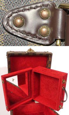 Louis Vuitton: Louis Vuitton Damier Boite Flacons Beauty Trunk Train Case Rare   MALLERIES