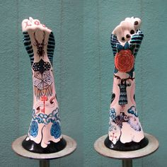 Evelyn Tannus' Ceramic Hand-Horns - Lola Who Lola Who