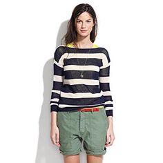 Striped Portstitch Pullover - Madewell $68