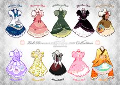 Lolita styles by Neko-VIYou can find Lolita style and more on our website.Lolita styles by Neko-VI Chibi, Anime Outfits, Mode Outfits, Character Outfits, Character Art, Style Lolita, Goth Style, Drawing Anime Clothes, Clothing Sketches