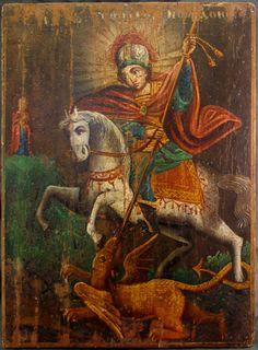 Religious Paintings, Religious Art, Famous Freemasons, Saint George And The Dragon, Church Icon, Best Icons, Biblical Art, Ukrainian Art, Medieval Art