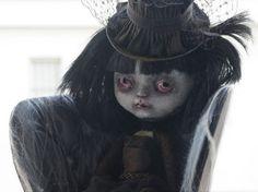 Zalandra gothic art doll ooak custom by Creaturesofselene