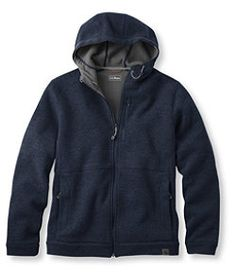 #LLBean: Men's Wool Tek Hooded Jacket