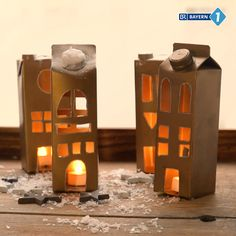 Laterne aus Tetra Pak basteln Light and Chandelier Chandelier diy videos Winter Crafts For Kids, Easy Christmas Crafts, Simple Christmas, Diy For Kids, Spring Crafts, Tetra Pak, Fete Halloween, Halloween Crafts, Diy And Crafts