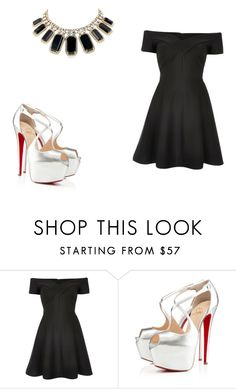 """""""61 outfit"""" by julieannbb13 ❤ liked on Polyvore featuring River Island, Christian Louboutin and Kate Spade"""