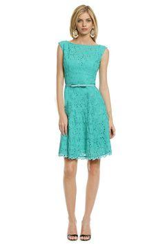 Morpheus Boutique  - Green Hollow Out Round Neck Sleeveless Hem Celebrity Dress