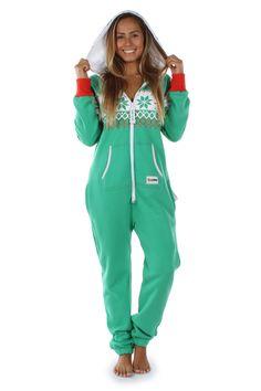 6d3c415e8440 Women s Green Christmas Jumpsuit
