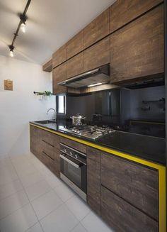 New kitchen renovation ideas singapore Ideas Kitchen Room Design, Kitchen Layout, Home Decor Kitchen, New Kitchen, Interior Design Living Room, Awesome Kitchen, 10x10 Kitchen, Kitchen Furniture, Küchen Design