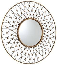 Cyan Design 05611 Cordova Modern / Contemporary Round Mirror - contemporary - Wall Mirrors - Arcadian Home & Lighting Round Wall Mirror, Floor Mirror, Round Mirrors, Mirror Mirror, Mirror Room, Pink Mirror, Royal Furniture, Mirrored Furniture, Contemporary Wall Mirrors