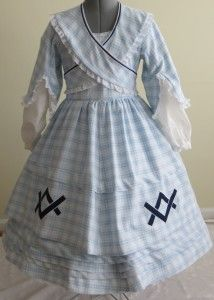 item #010-002 front, little girls dress