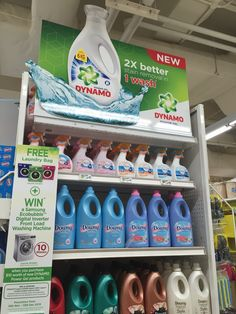 Dynamo 2x better stain removal in 1 wash Gondola Display | The Selling Points