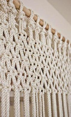 HOME & GARDEN: DIY : Faire soi-même un rideau en macramé Plus