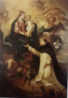 De Heilige Dominicus ontvangt de rozenkrans uit handen van Maria Th. van Thulden