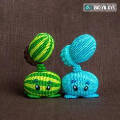 (4) Name: 'Crocheting : Melon-pult ('Plants vs. Zombies')