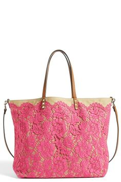 Valentino 'Glam' Reversible Lace Tote on shopstyle.co.uk