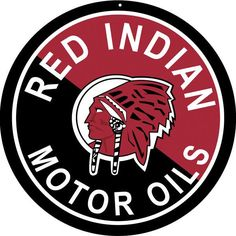 Red Indian Motor Oil, Large Aluminum Metal Sign, 3 Sizes Available, USA Made Vintage Style Retro Garage Art by HomeDecorGarageArt on Etsy