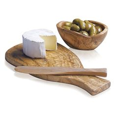 Olivewood Cheese Board in Specialty Serveware | Crate and Barrel