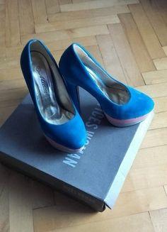 Kup mój przedmiot na #vintedpl http://www.vinted.pl/damskie-obuwie/na-wysokim-obcasie/18156442-piekne-niebieskie-czolenka