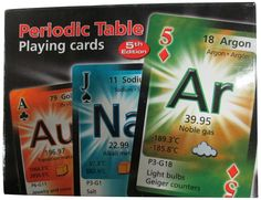 Periodic Table Double Deck Playing Cards