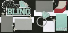 Ring Bling Page Kit Wedding Scrapbook Pages, Birthday Scrapbook, Scrapbooking, Scrapbook Layouts, Memories, Kit, Bling, Cards, Addiction
