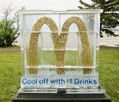 Ice sculpture stunt