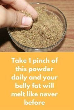 Take 1 pinch of this powder daily and your belly fat will melt like never before Today I am going to share one super effective treatment for weight loss. Best part of this remedy is that you do not have to prepare it daily. Prepare it once and you can use Quick Weight Loss Tips, Losing Weight Tips, Fast Weight Loss, Weight Loss Plans, How To Lose Weight Fast, Loose Weight, Weight Gain, Reduce Weight, Yoga Training