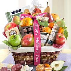 Golden State Fruit Gourmet Abundance Fruit Basket Gift Happy Mothers Day