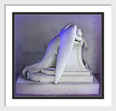 Statue Framed Print featuring the photograph Angel Of Grief by Greg Thiemeyer