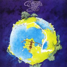 Yes: Fragile: And the real legacy begins. The font's not there yet - in fact, nothing is, really It's a fantasy landscape, but it's an entire planet, and it doesn't really have that classic Roger Dean 'feel' quite yet.