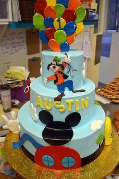 great dane bakery, mickey, mickeys clubhouse, goofy, disney, balloons, birthday cake