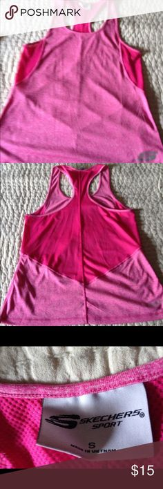 Sketchers razor back tank top Mesh in some areas, never worn no tags Skechers Tops Tank Tops