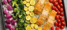 Σολωμός στο φούρνο, με λαχανικά