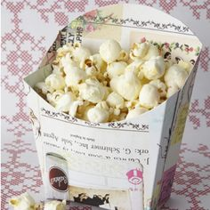 popcorn box DIY- free template