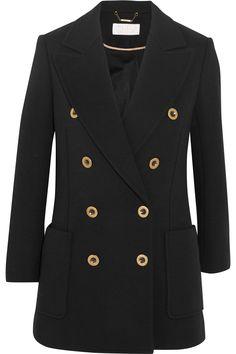 CHLOÉ Double-breasted wool-piqué blazer  $1,895.00 https://www.net-a-porter.com/product/799113