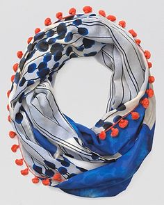 DVF Printed Infinity Scarf