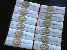 Candy bar covers for 50th anniversary party