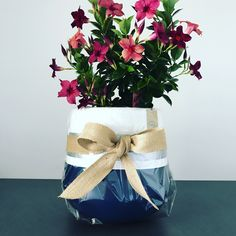 Painted Pots, Hand Painted, Indoor Flower Pots, Earth Design, Beautiful Hands, Indigo, Reusable Tote Bags, Table Decorations, Flowers