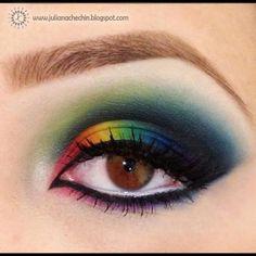 Maquiagem colorida 2